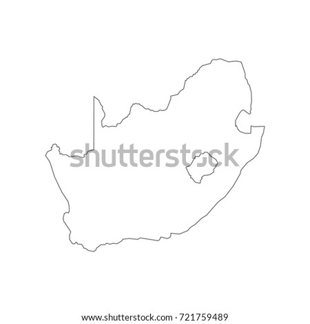 Royalty Free Stock Illustration Of South Africa Map Outline On White
