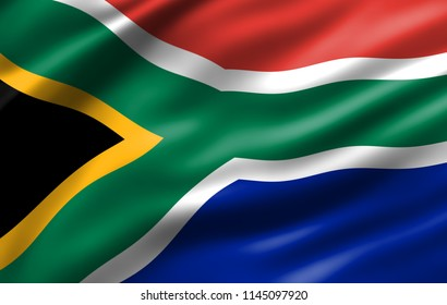 South Africa waving flag for Independence day