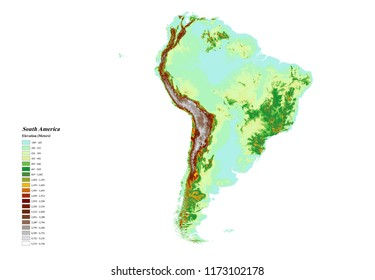Elevation Map South America Images Stock Photos Vectors