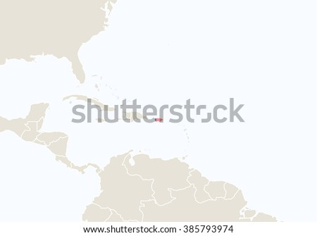 South America Highlighted Puerto Rico Map Stock Illustration