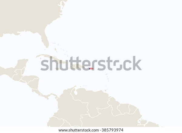 South America Highlighted Puerto Rico Map Stock Illustration 385793974