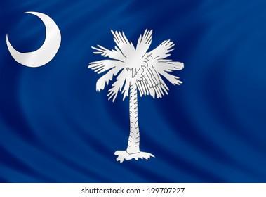 South Carolina flag of silk