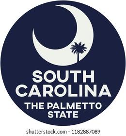 south carolina: the palmetto state | digital badge