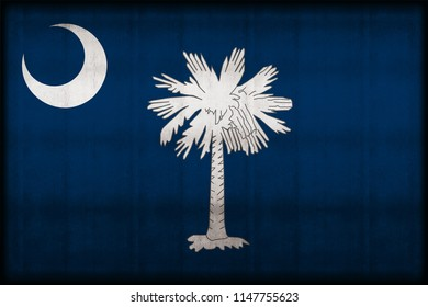 South Carolina rusty flag illustration. Usable for background and texture.