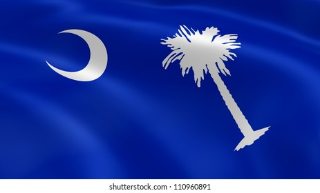 South Carolinian flag in the wind. Part of a series.