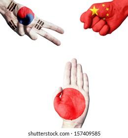 South Korea China Japan rock-paper-scissors