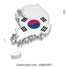 South Korea (clipping path included)