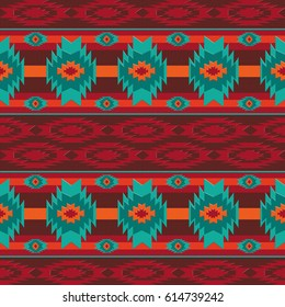 Southwestern navajo seamless pattern