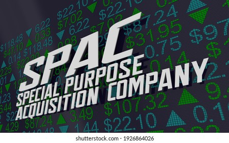SPAC Special Purpose Acquisition Company Stock Market Shares Exchange IPO 3d Illustration