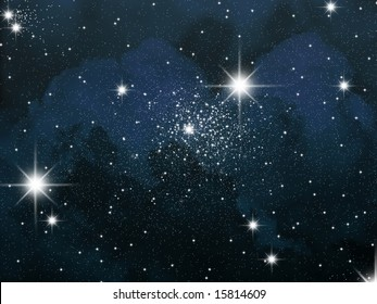 Space and astronomy. A congestion of stars