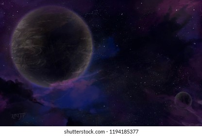Space background for decorations