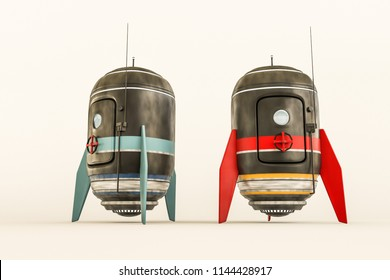 space capsule isolated on white background 3d illustration