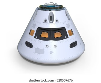 Space capsule isolated on white