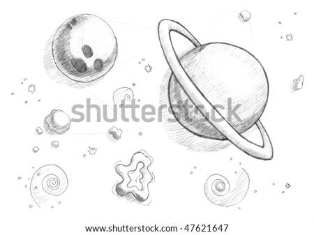 Space Tattoo | Ideen fürs zeichnen, Gekritzel, Zeichnen  |Astronomy Line Drawing