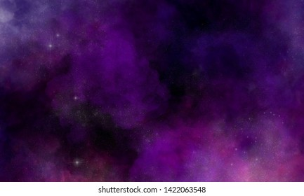 Space nebula. Illustration, for use with projects on science, research, and education.