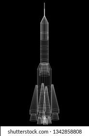 Space Rocket Architect blueprint  3D renderings