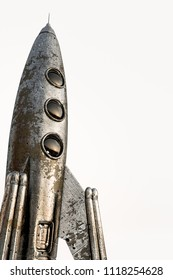 space rocket isolated on white background 3d illustration