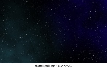 Space scape illustration astronomy design background with gas clouds and stars field in deep universe.