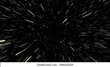 Space Star Warp or Hyperspace Travel Speed Effect