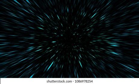 Space Star Warp or Hyperspace Travel Speed Effect