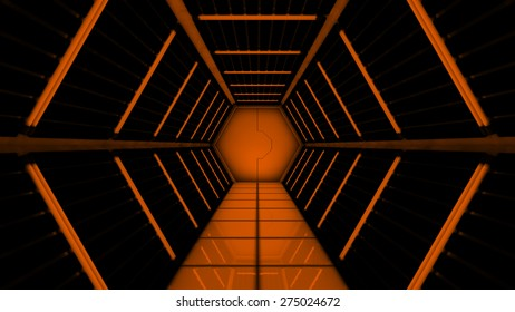 Space station hallway tunnel