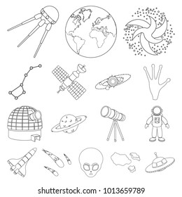 1000 sputnik 1 pictures royalty free images stock photos and 1957 Sputnik Launch space technology outline icons in set collection for design spacecraft and equipment bitmap symbol stock