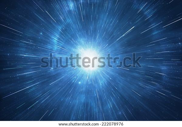 Space travel warp, supernova starburst
