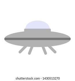 Spaceship geometric illustration isolated on background