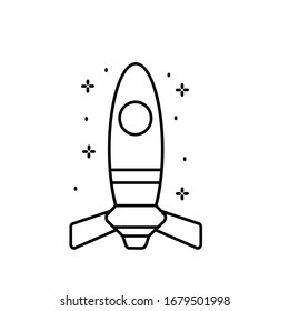 Spaceship icon. Simple line, outline illustration of rocket icons for ui and ux, website or mobile application