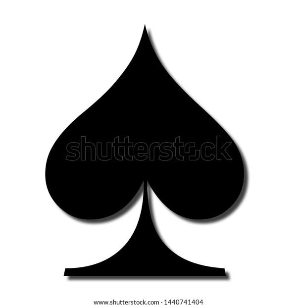 spade card sign  Spade Sign Card Games Stock Illustration 5