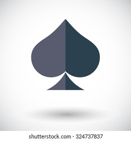 Spades icon. Flat related icon for web and mobile applications. It can be used as - logo, pictogram, icon, infographic element. Illustration.