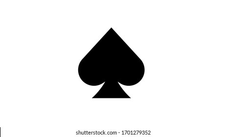 Spades icon in trendy flat style isolated on background