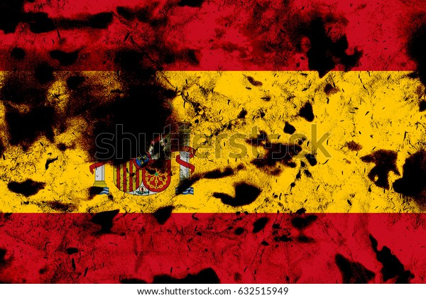 Spain flag grunge background. Background for design in country flag