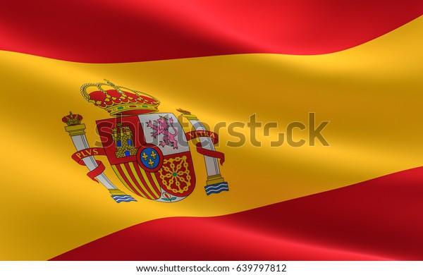 Stockillustration 639797812 Med Spanien Flagga Illustration Av Spaniens Flagga