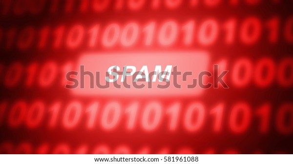 Spam text with binary code
