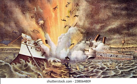 The Spanish American War, the destruction of the battleship Maine in Havana harbor, February 15, 1898