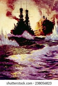 The Spanish American War, U.S. battleships in action, 1898
