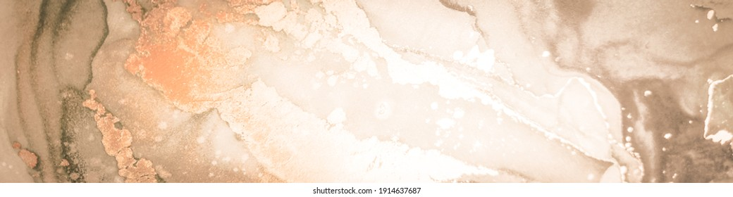 Spanish Marble. Delicate Alcohol Ink Abstract. Pink Marbled Background. Craft Dirty. Brown Oil Paint Abstract. Artist Acrylic Paint. Watercolor Abstract Prints.