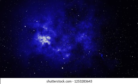 Sparkle shinny blue star particle motion on black background, starlight nebula in galaxy at universe Space background. This image furnished by NASA