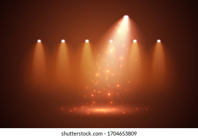 Sparkle with Spotlights on stage for your design. Raster version.