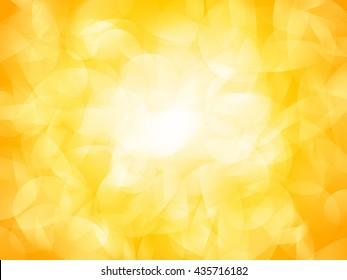 sparkle yellow light circle bokeh background