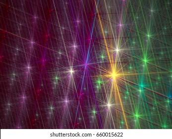 Sparkling abstract fractal light.