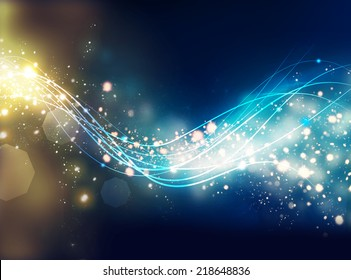 sparkling energy waves