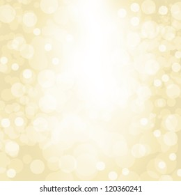 Sparkling gold seasonal holiday background with white lights.