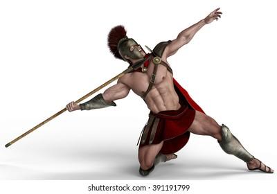 spartan soldier shooting