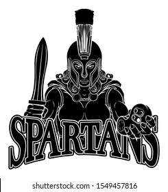 A Spartan or Trojan woman or gladiator female warrior gamer mascot with video games controller