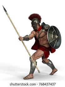 spartan warrior 3d illustration