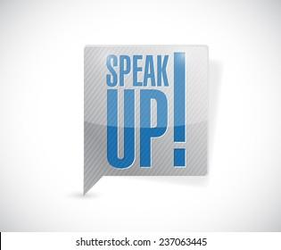 speak up message bubble illustration design over a white background