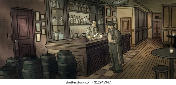 Speakeasy in the Depression era.