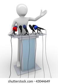 Speaker on a tribune (mass media series)